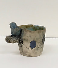 Cup with Blue Bird and Nest by Ashley Benton (Ceramic Cup)