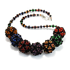 Deep Rainbow by Kathryn Bowman (Beaded Necklace)