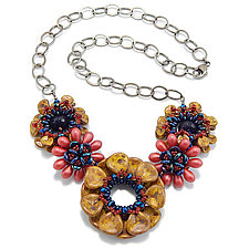 Precious Petals by Kathryn Bowman (Glass Bead Necklace)
