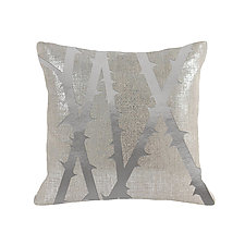 Gilded Linen Metallic Thorn Pillow by Helene  Ige (Linen Pillow)
