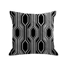 Gilded Luxe Metallic Geo Pillow by Helene  Ige (Velvet Pillow)