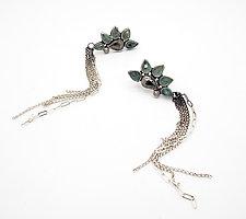 Budding Fan Earrings by Sasha Walsh (Silver & Stone Earrings)
