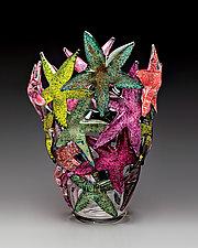Starfish Cluster by John Gibbons (Art Glass Vase)