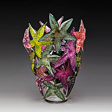 Starfish Cluster by John Gibbons (Art Glass Vase)