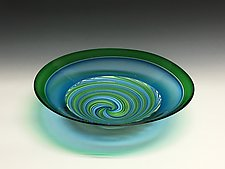 Spring Vortex Glass Bowl by John Gibbons (Art Glass Bowl)