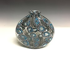 Barnacle Vertigo Vase by John Gibbons (Art Glass Vase)