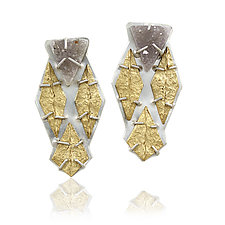 Druzy Apex Post Earrings by Amanda Hagerman (Gold, Silver & Stone Earrings)