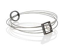 Pearl Bracelet by Boo Poulin (Silver, Steel & Pearl Bracelet)