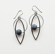 Sponge Coral Earrings by Boo Poulin (Silver & Coral Earrings)