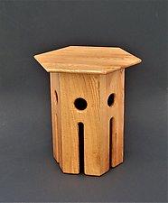 Castle Nut by Tracy Fiegl (Wood Side Table)