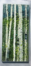 Summer by Leslie W. Friedman (Art Glass Wall Sculpture)