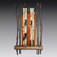 The Beauty of Autumn by Leslie W. Friedman (Art Glass & Metal Wall Sculpture)