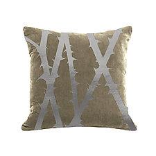Gilded Luxe Metallic Thorn Pillow by Helene  Ige (Velvet Pillow)