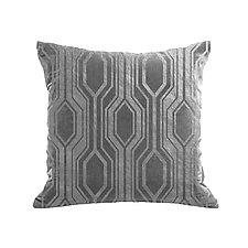 Gilded Luxe Metallic Geo Pillow by Helene  Ige (Velvet Pillow)
