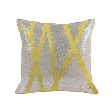 Gilded Luxe Metallic Thorn Pillow by Helene  Ige (Velvet Pillow)
