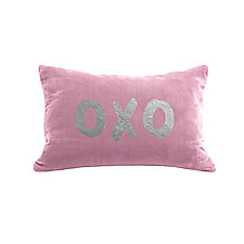Gilded Luxe OXO Pillow by Helene  Ige (Velvet Pillow)
