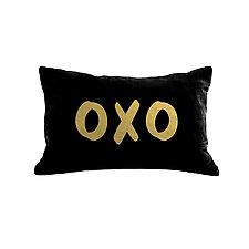 Gilded Luxe OXO Pillow by Helene  Ige (Velvet Pillow)