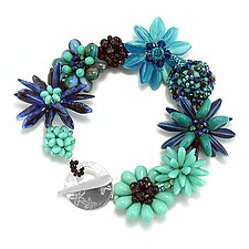 Blue Border Bracelet by Kathryn Bowman (Beaded Bracelet)