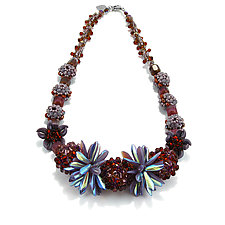 Lush Paradise by Kathryn Bowman (Beaded Necklace)