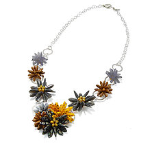 Evening Flash by Kathryn Bowman (Glass Bead Necklace)