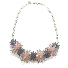 Soft Lotus by Kathryn Bowman (Silver & Glass Bead Necklace)