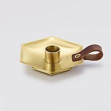 Honeycomb Chamber Candleholder by Beehive Handmade (Metal Candleholder)