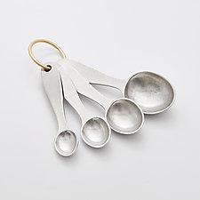 Pewter Measuring Spoons by Beehive Handmade (Metal Spoons)
