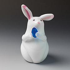 Bunny by Orient & Flume Art Glass (Art Glass Paperweight)
