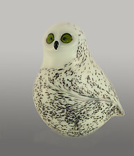 Snow Owl by Orient & Flume Art Glass (Art Glass Sculpture)
