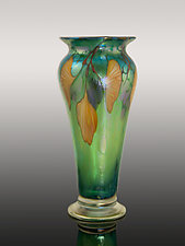 Autumn Ginkgo by Orient & Flume Art Glass (Art Glass Vase)