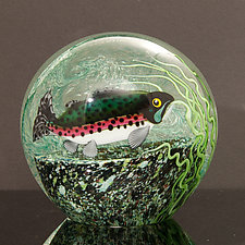 Trout by Orient & Flume Art Glass (Art Glass Paperweight)
