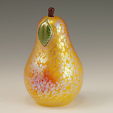 Gold Iridescent Venetian Fruit by Orient & Flume Art Glass (Art Glass Sculpture)