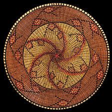 Sunset Desert Rose Sculpture by Keoni Carlson (Wood Bowl)
