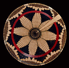 Navajo Wedding Basket Sculpture by Keoni Carlson (Wood Platter)