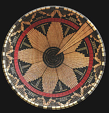 Navajo Wedding Basket Sculpture by Keoni Carlson (Wood Platter)