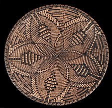Flower Moon II Sculpture by Keoni Carlson (Wood Platter)