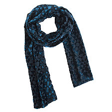 Triangle Burnout Scarf by Kevin O'Brien (Silk Velvet Scarf)