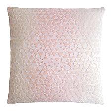 Large Triangles Velvet Pillow by Kevin O'Brien (Velvet Pillow)