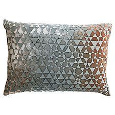 Triangles Velvet Pillow - Rectangular by Kevin O'Brien (Velvet Pillow)