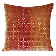 Metallic Petal Flower Velvet Pillow by Kevin O'Brien (Velvet Pillow)