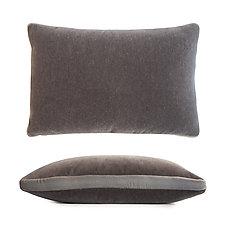 Mohair Tuxedo Pillow - Rectangular by Kevin O'Brien (Mohair & Velvet Pillow)