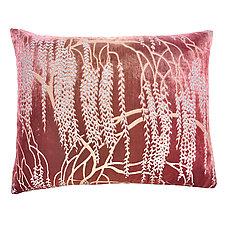 Desert Rose Metallic Willow Velvet Pillow - Rectangular by Kevin O'Brien (Velvet Pillow)