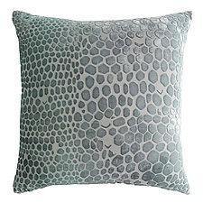 Snakeskin Velvet Pillow by Kevin O'Brien (Velvet Pillow)