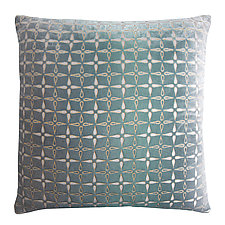 Metallic Petal Flower Velvet Pillow by Kevin O'Brien (Velvet Pillow)