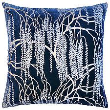 Metallic Willow Velvet Pillow by Kevin O'Brien (Silk Velvet Pillow)