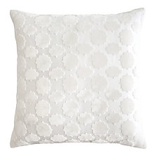 Mod Fretwork Velvet Pillow by Kevin O'Brien (Velvet Pillow)