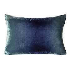 Ombre Velvet Lumbar Pillow by Kevin O'Brien (Velvet Pillow)