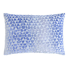 Triangles Velvet Pillow - Rectangular by Kevin O'Brien (Velvet Pillow)