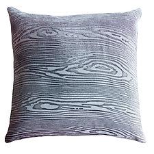 Large Woodgrain Velvet Pillow by Kevin O'Brien (Velvet Pillow)