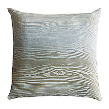 Large Woodgrain Velvet Pillow by Kevin O'Brien (Velvet Pillow)